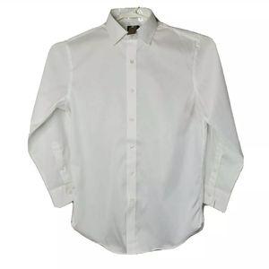 J. Crew Ludlow Mens L White Slim Fit Dress Shirt
